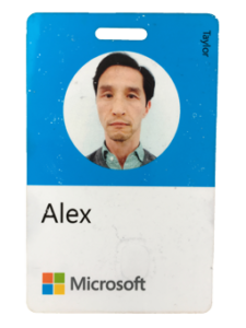 My Microsoft smart card front